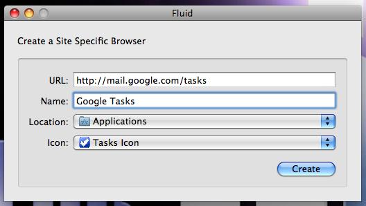 fluid new app creation
