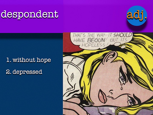 vocab-despondent