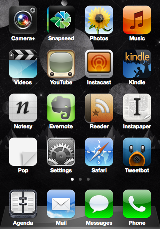 iPhone Home Screen 12.04.12